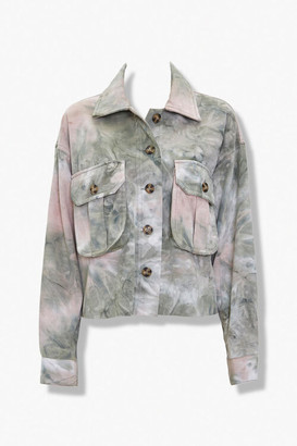 Forever 21 Tie-Dye Button-Front Jacket
