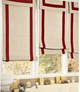 Ribbon-Border Roman Shade - Oatmeal