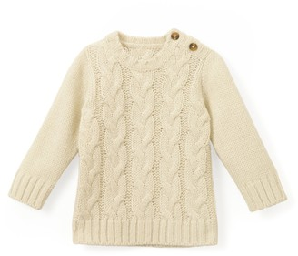 La Redoute Collections Chunky Knit Crew-Neck Jumper, 1 Month-3 Years