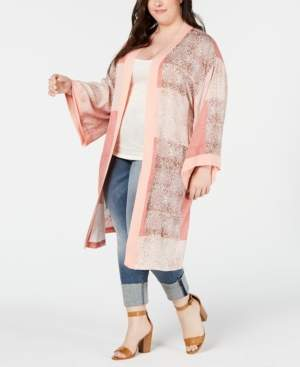 Seven7 Jeans Plus Size Printed Kimono