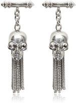 Alexander McQueen Skull Brass Chained Cufflinks