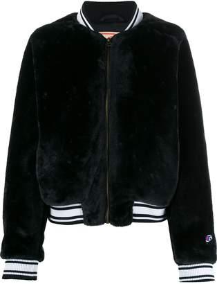 Champion striped collar bomber jacket
