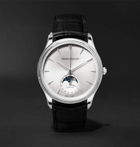 Jaeger-LeCoultre Master Ultra Thin Moon 39mm Stainless Steel And Alligator Watch