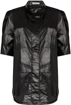 REJINA PYO Oversized Leather-Look Shirt