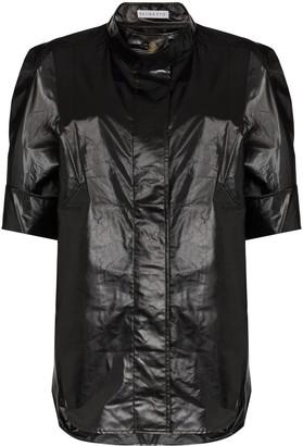 REJINA PYO Oversized Leather-Look Shirt