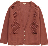 LOUISE MISHA Teen Girls and Women\u2019s Fashion - Angora Marcel Cardigan with Pompoms