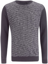 Brave Soul Men's Stone Zip Sweatshirt - Navy