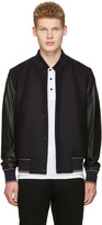 Paul Smith Navy and Black Varsity Bomber Jacket