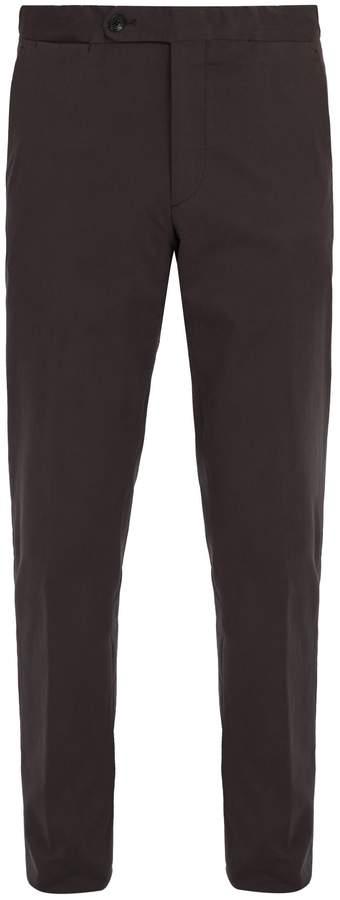 Ermenegildo Zegna Mid-rise cotton-blend trousers