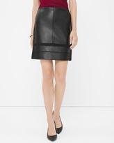 White House Black Market Petite Mixed Texture Skirt