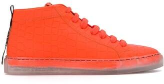 Hide&Jack Clear Sole High-Top Sneakers