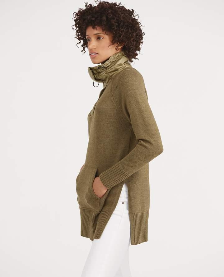 Ralph Lauren Merino-Taffeta Tunic Sweater