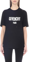 Givenchy Distressed cotton-jersey t-shirt