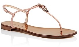 Giuseppe Zanotti Women's Embellished T-Strap Thong Sandals