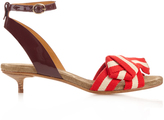 Isabel Marant Polly striped-bow sandals