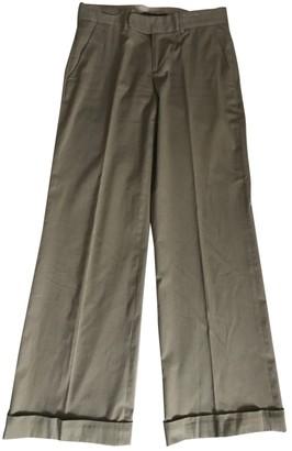 Ralph Lauren Khaki Cotton Trousers