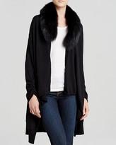 Alice + Olivia Cardigan - Izzy Cascade Fur Collar