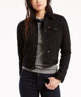 Levi's Black Rain Sherpa Thermore® Down-Alternative Trucker Jacket