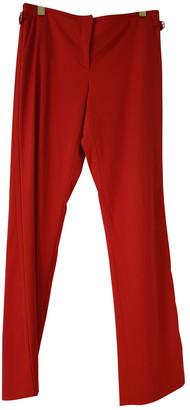 Salvatore Ferragamo Red Wool Trousers