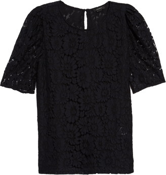 Halogen Puff Sleeve Lace Top