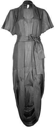 Format SAGE Silk Dress - black - Grey/Black/Grey