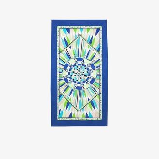 Emilio Pucci blue Bes print beach towel
