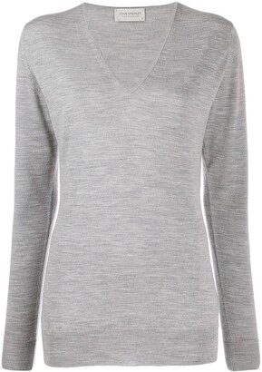 John Smedley long-sleeve fitted jumper