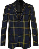 Joseph Navy Hanford Prince of Wales Checked Cotton-Twill Suit Jacket