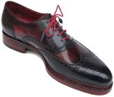 Paul Parkman Men's Triple Leather Sole Wingtip Brogues Navy & Red Shoes (Id) Size 11.5 D(M) US