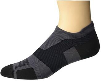 2XU VECTR Ultralight No Show Socks (Titanium/Black) Crew Cut Socks Shoes