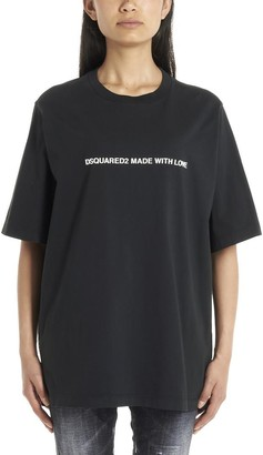 DSQUARED2 Made With Love Print Crewneck T-Shirt