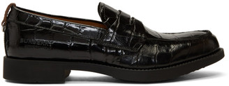 Burberry Black Croc Emile G Loafers
