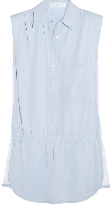 Thakoon Brushed-chambray playsuit