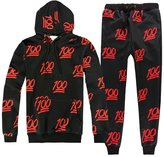 Harveyman Young Men's 3D Emoji Activewear Sportwear Sweatpants and Shirt Joggers