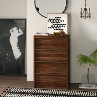 Posner 4 Drawer Chest Mercury Row Color: Grand Walnut