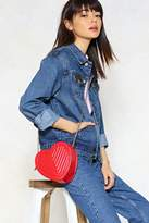 Nasty Gal WANT Down to a Fine Heart Crossbody Bag