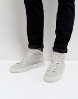 Religion League Hi Top Suede Trainers
