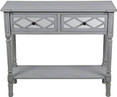 Privilege Two-Drawer Mirrored Wood Console Table