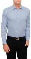 Canali Oxford Geometric Print Shirt