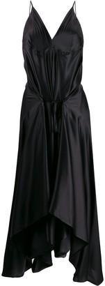Ann Demeulemeester Draped Silk Dress