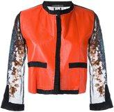 Aviu cropped sequin sleeve jacket