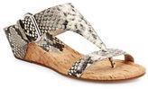 Donald J Pliner Doli Embossed Leather Thong Sandals