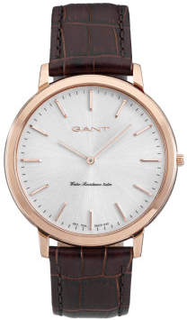 Gant Harrison Rose Gold, Silver Dial, Brown Band