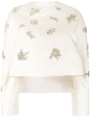 Dice Kayek Rhinestone-Embellished Satin Jacket