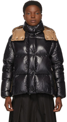 Moncler Black and Brown Down Parana Coat