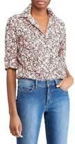 Lauren Ralph Lauren Petite Floral-Printed Button-Down Shirt