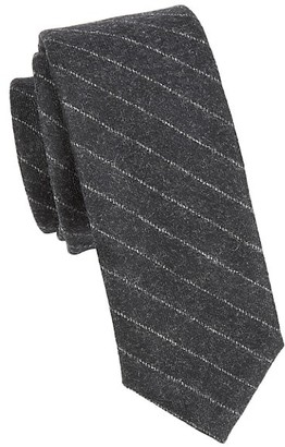 Thom Browne Chalk Stripe Narrow Wool & Cashmere Tie