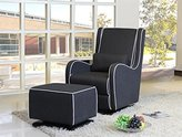 Benjamin Glider With Ottoman-Moderno-Dark Grey