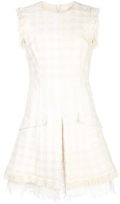 Oscar de la Renta Tweed Lace Shift Dress