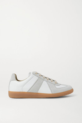 Maison Margiela Replica Leather And Suede Sneakers - Off-white